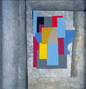 Ben Nicholson - 1946 (cerulean abstraction)