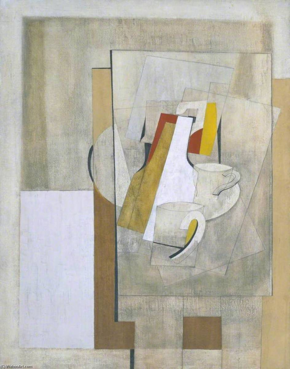 1945 (still life), 1945 by Ben Nicholson (1894-1982, United Kingdom) | Museum Quality Reproductions | WahooArt.com