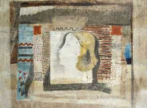 Ben Nicholson - 1932 (crowned head the queen)