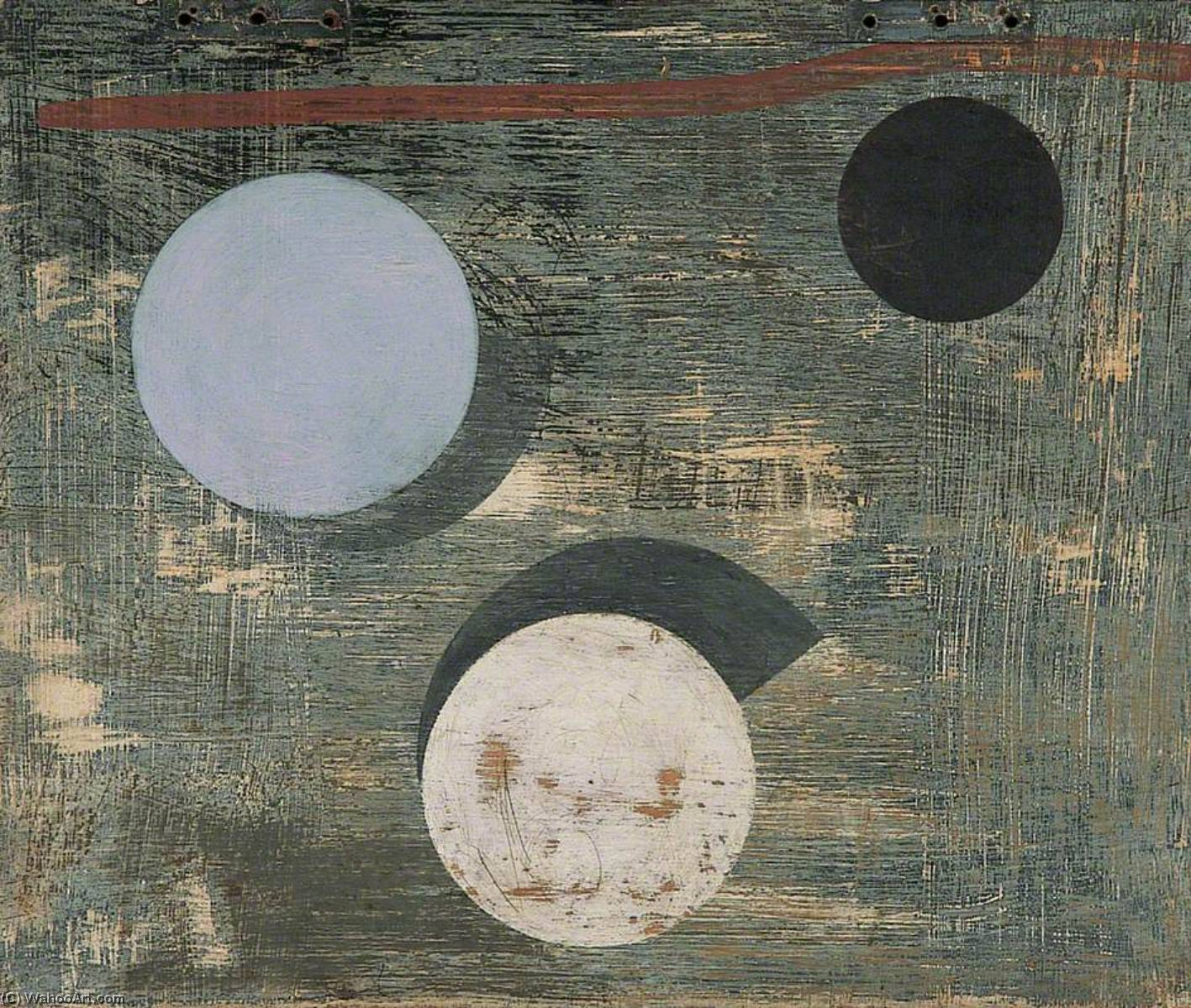 c.1946–1947 (3 circles), 1947 by Ben Nicholson (1894-1982, United Kingdom) |  | WahooArt.com