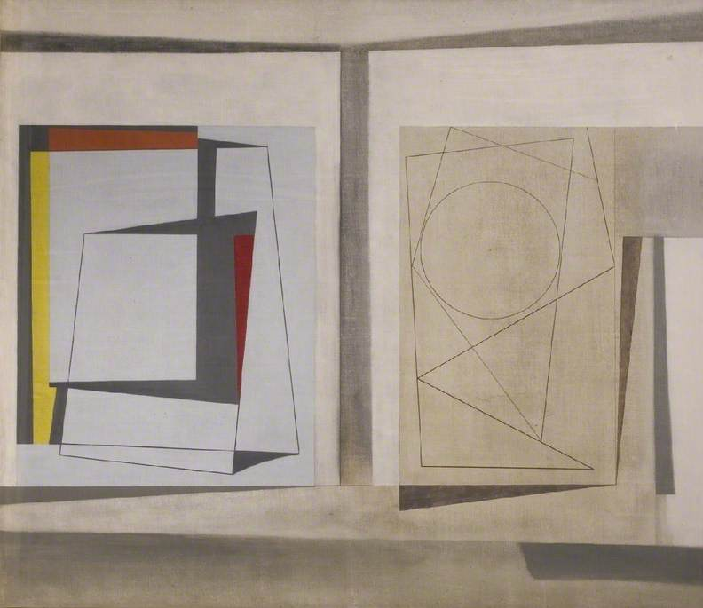 1946–47 (project for two forms) by Ben Nicholson (1894-1982, United Kingdom) | Museum Quality Reproductions | WahooArt.com