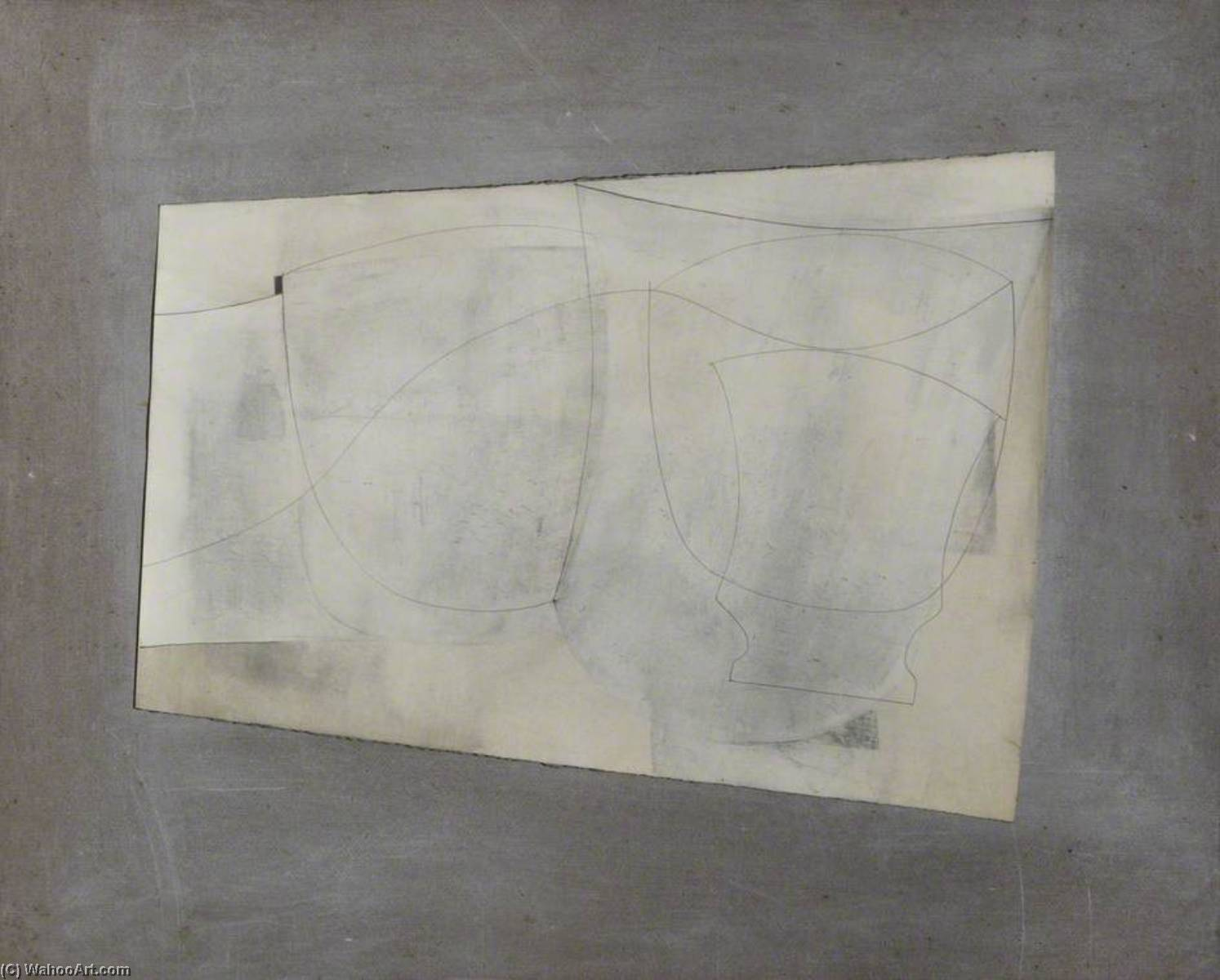 date unknown (ivory still life) by Ben Nicholson (1894-1982, United Kingdom) |  | WahooArt.com