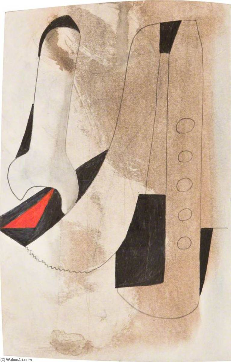 date unknown (small red diamond) by Ben Nicholson (1894-1982, United Kingdom) | Painting Copy | WahooArt.com
