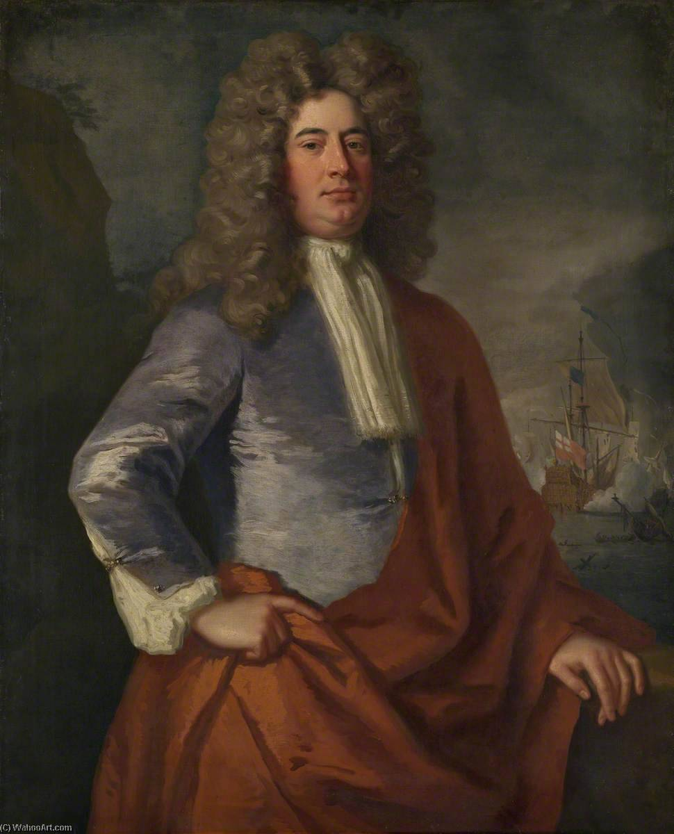 Lord Matthew Aylmer (c.1655–1720), 1693 by Jonathan Richardson The Elder (1667-1745) | Art Reproduction | WahooArt.com