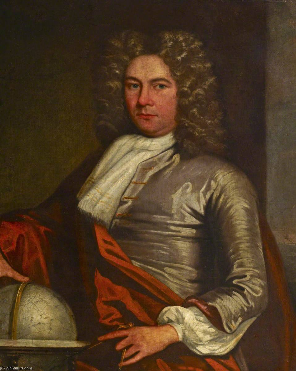 Portrait of a Sea Officer, 1700 by Jonathan Richardson The Elder (1667-1745) | Museum Quality Reproductions | WahooArt.com