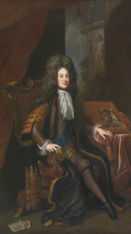 John Sheffield (1647–1721), 1st Duke of Buckingham and Normanby, 1705 by Jonathan Richardson The Elder (1667-1745) | Painting Copy | WahooArt.com