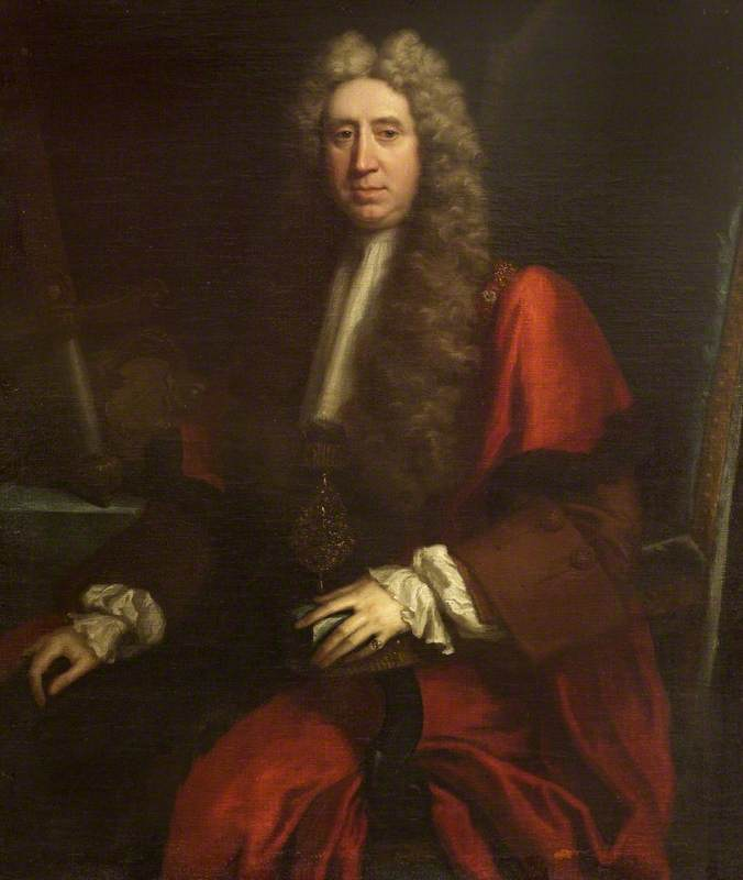Sir Richard Hoare I (1648–1718), Kt, as Lord Mayor, 1712 by Jonathan Richardson The Elder (1667-1745) | Oil Painting | WahooArt.com