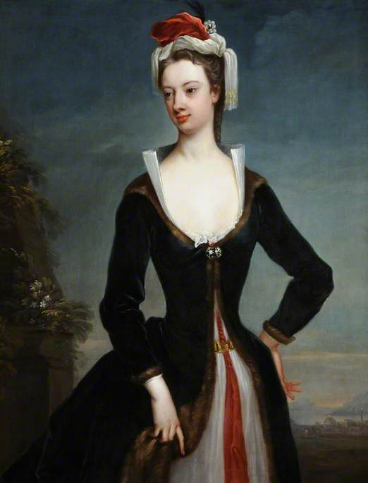 Lady Mary Wortley Montagu (1689–1762), 1718 by Jonathan Richardson The Elder (1667-1745) | Oil Painting | WahooArt.com