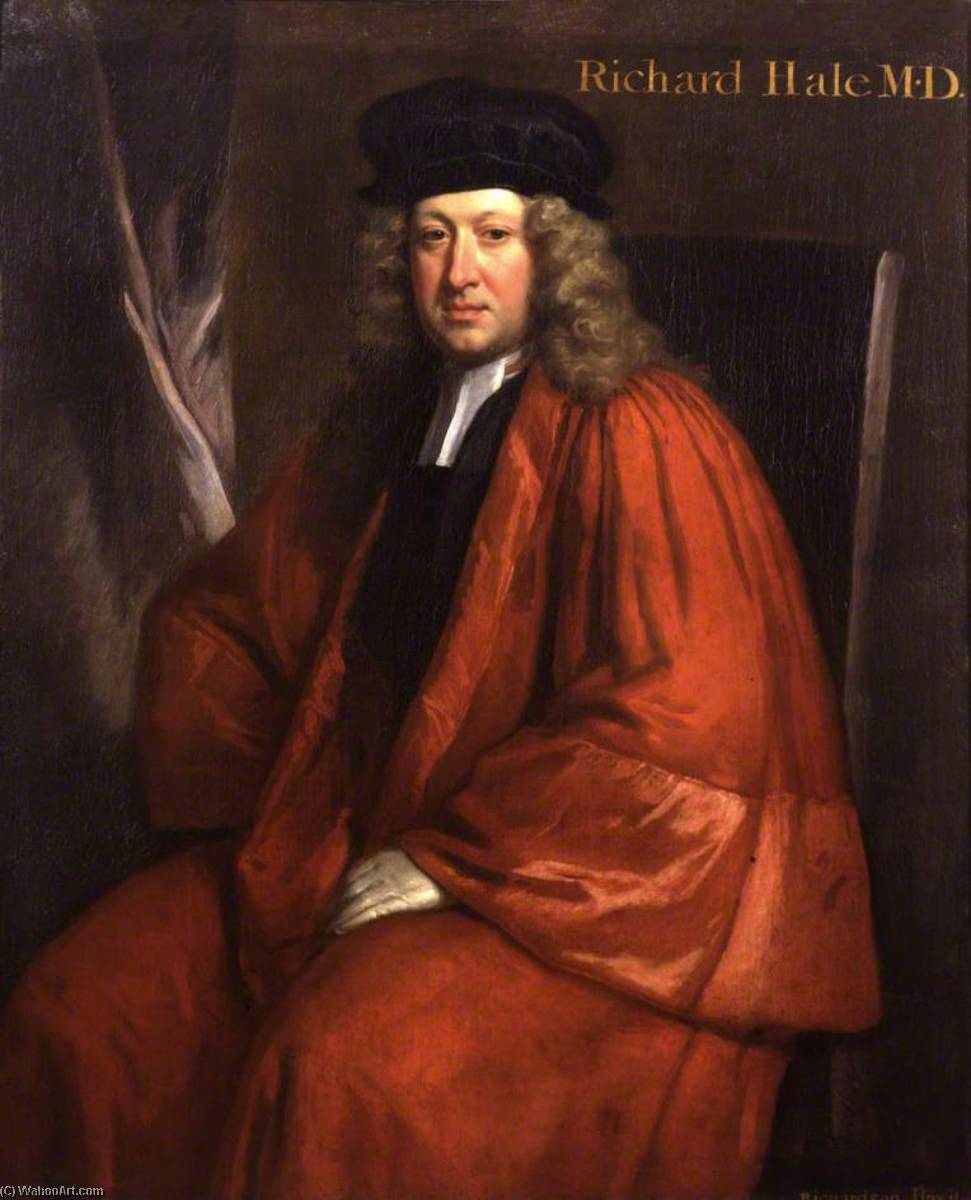 Richard Hale (1670–1728), 1733 by Jonathan Richardson The Elder (1667-1745) | Museum Quality Reproductions | WahooArt.com
