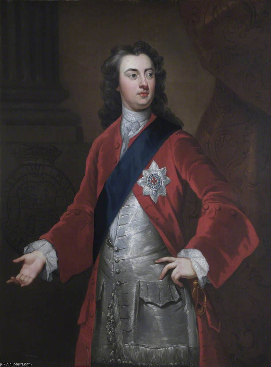 Charles (1701–1750), 2nd Duke of Richmond and Lennox, KG, 1724 by Jonathan Richardson The Elder (1667-1745) | Art Reproduction | WahooArt.com