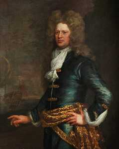 Jonathan Richardson The Elder - Admiral Sir John Balchen (1670–1744)