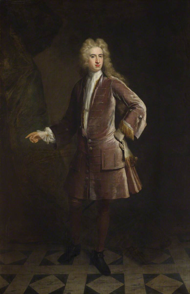 Thomas Watson Wentworth (1693–1750), 1st Marquess of Rockingham, Politician by Jonathan Richardson The Elder (1667-1745) | Oil Painting | WahooArt.com