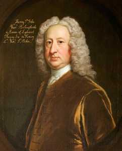 Order Famous Paintings Reproductions : Henry St John (1678–1751), 1st Viscount Bolingbroke, Baron St John of Lydiard Tregoze by Jonathan Richardson The Elder (1667-1745) | WahooArt.com