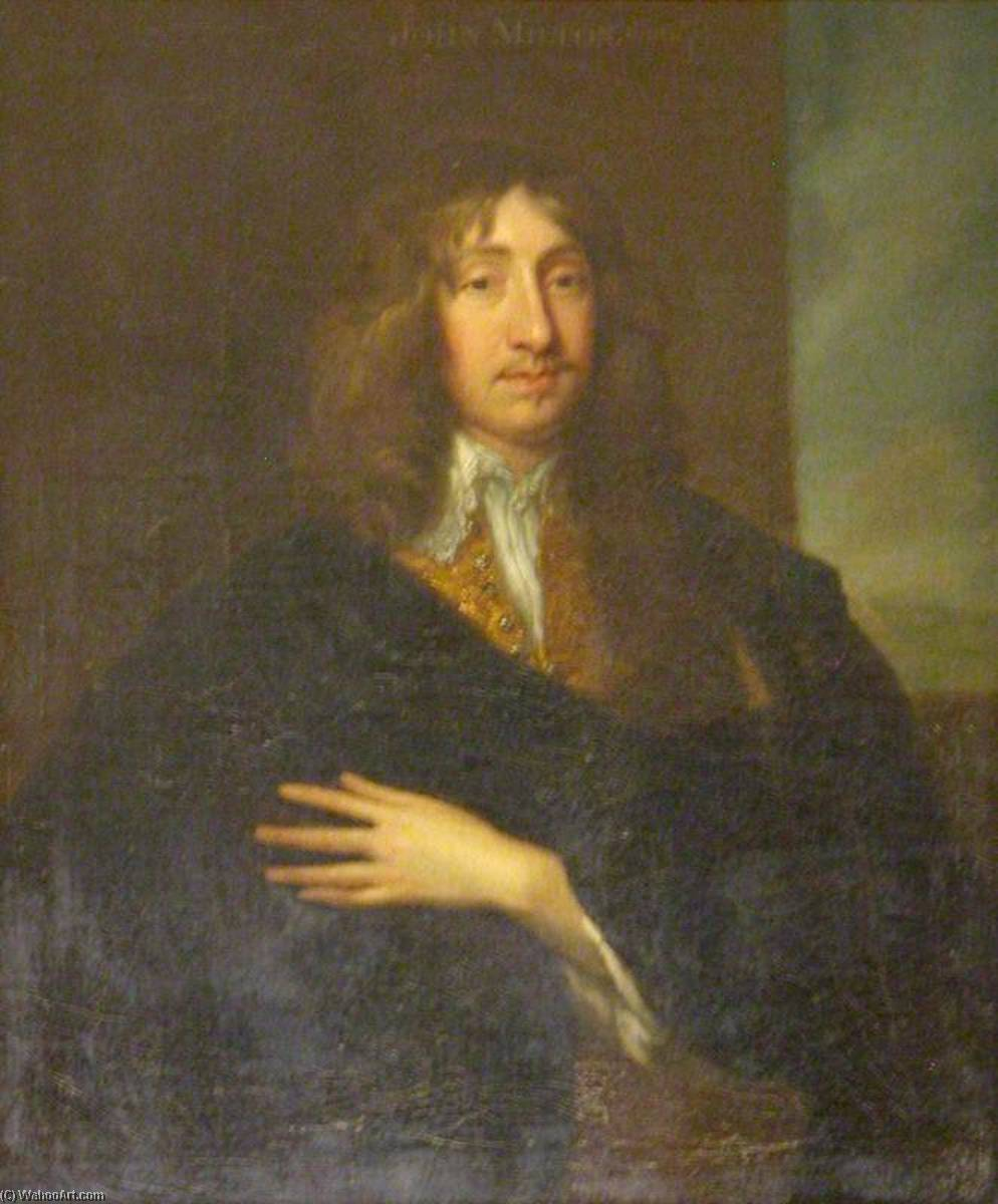 Richard Boyle (1612–1697 1698), 2nd Earl of Cork and 1st Earl of Burlington (after Anthony van Dyck) by Jonathan Richardson The Elder (1667-1745) | Famous Paintings Reproductions | WahooArt.com