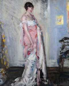 Francis Campbell Boileau Cadell - Girl in Pink and White