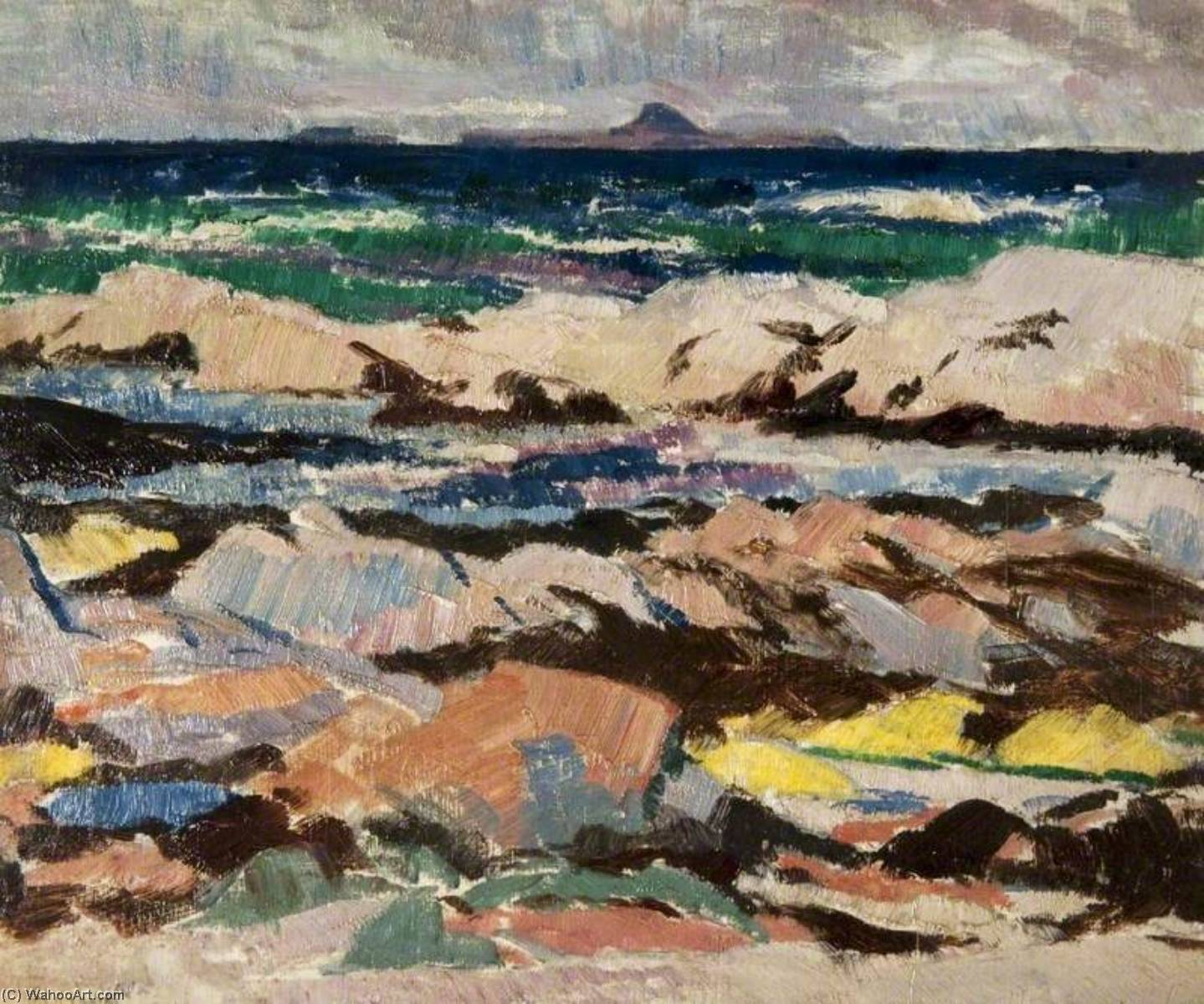 The Dutchman's Cap from Iona, Oil On Panel by Francis Campbell Boileau Cadell (1883-1937)