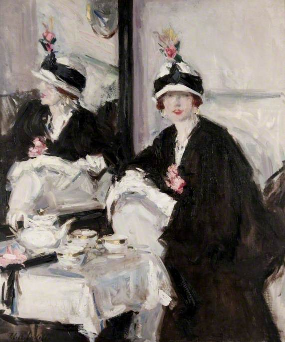 Reflections, Oil On Canvas by Francis Campbell Boileau Cadell (1883-1937)