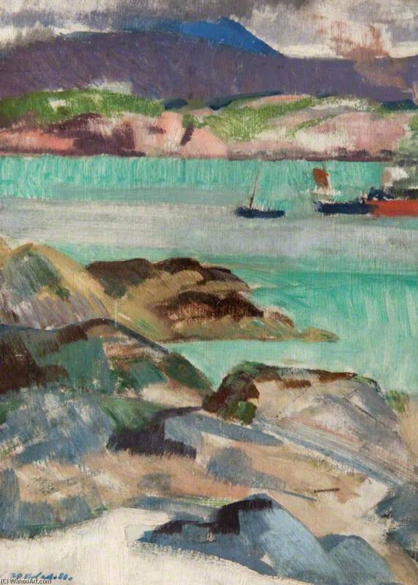 Iona, North End, Oil On Panel by Francis Campbell Boileau Cadell (1883-1937)