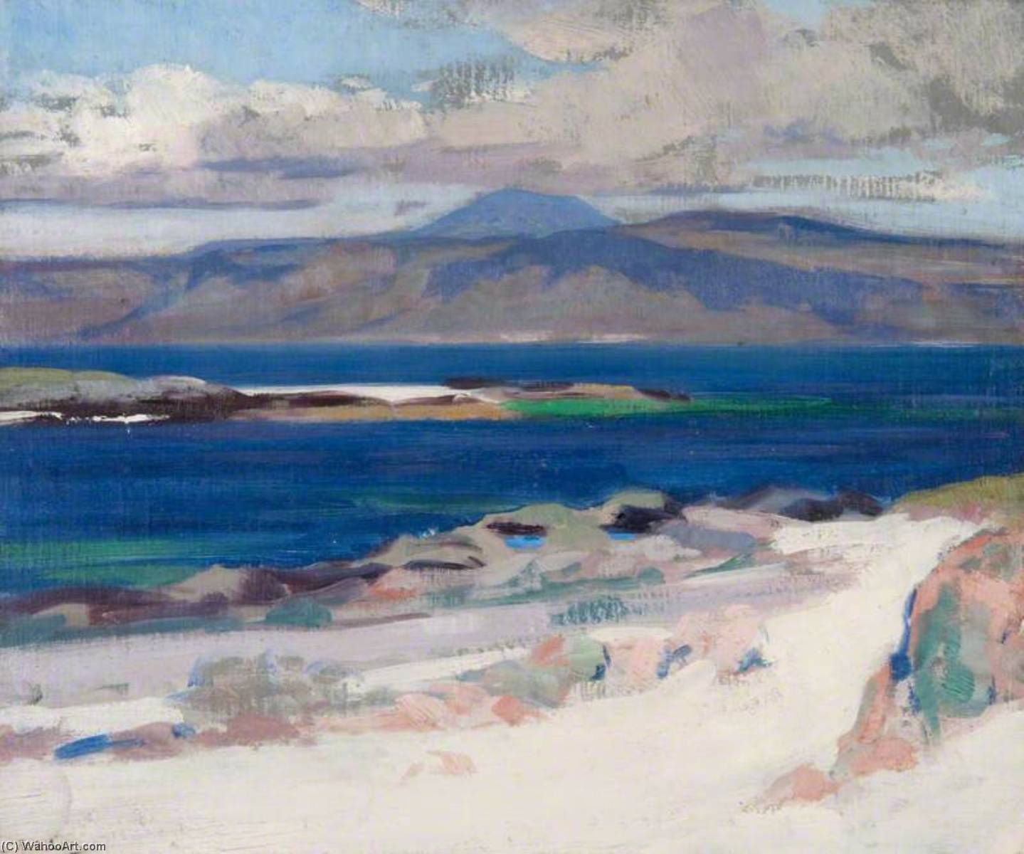 Ben More from Iona, Oil by Francis Campbell Boileau Cadell (1883-1937)