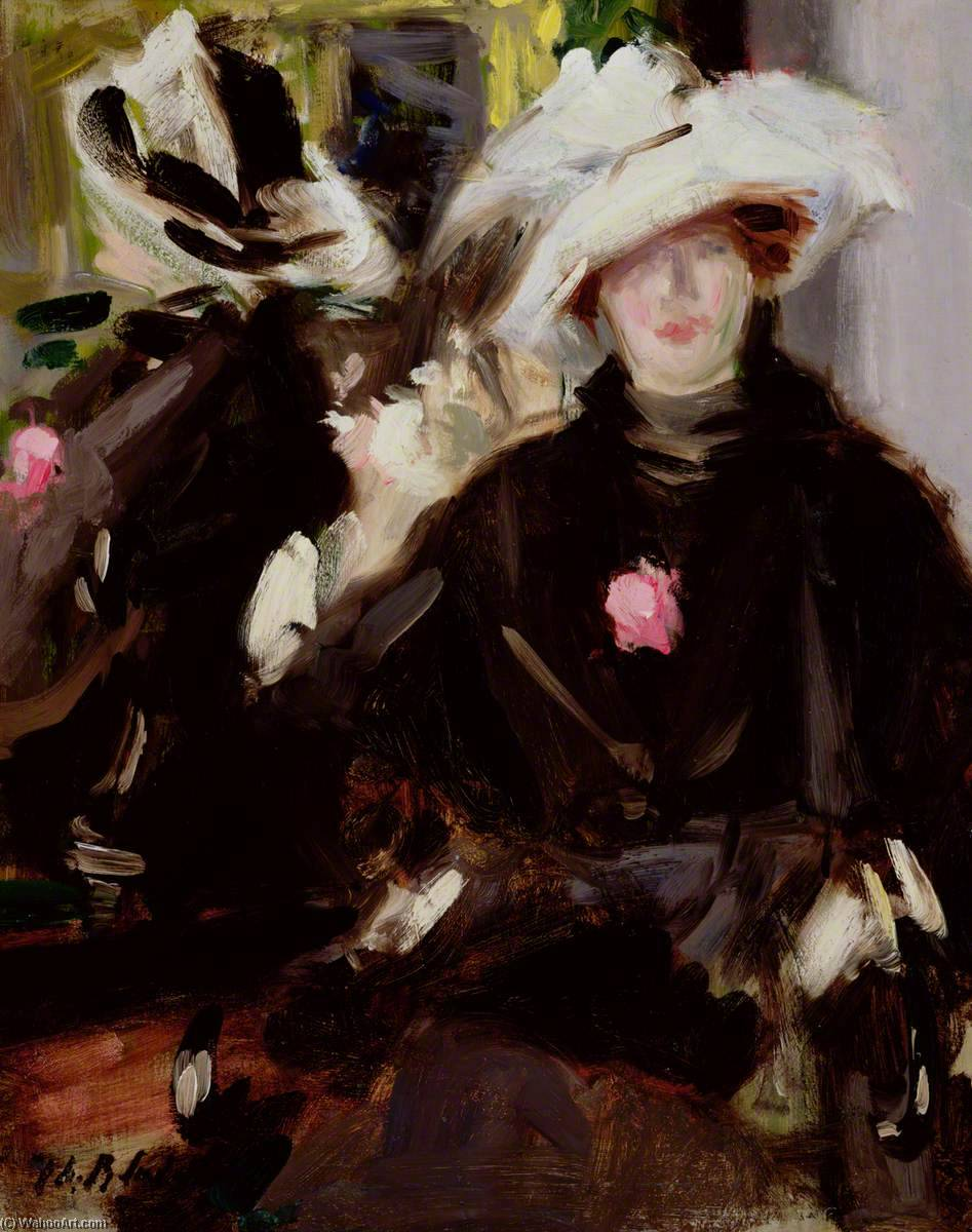 The Feathered Hat, Oil by Francis Campbell Boileau Cadell (1883-1937)