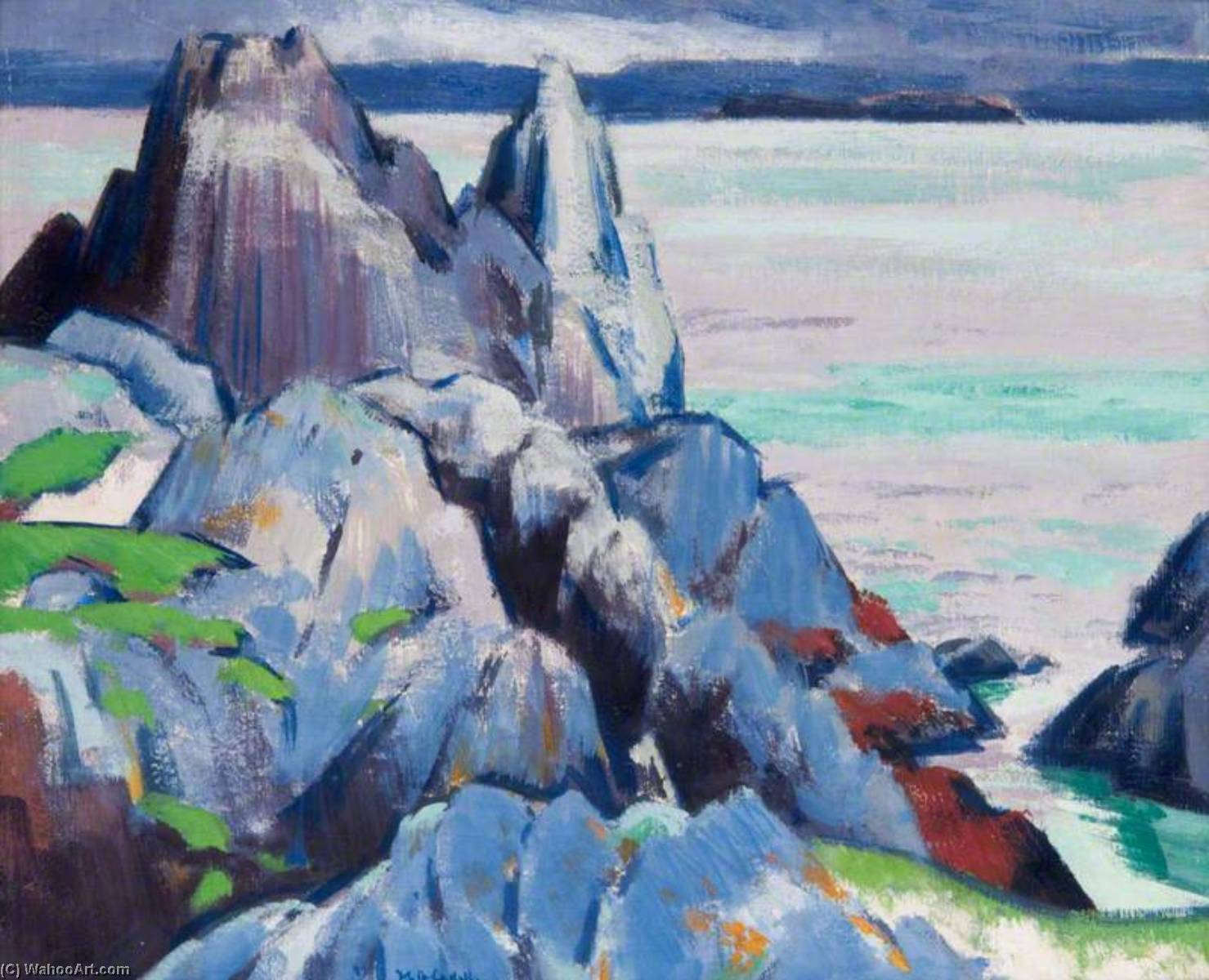 The Cathedral Rock, Iona, 1923 by Francis Campbell Boileau Cadell (1883-1937) | Art Reproduction | WahooArt.com