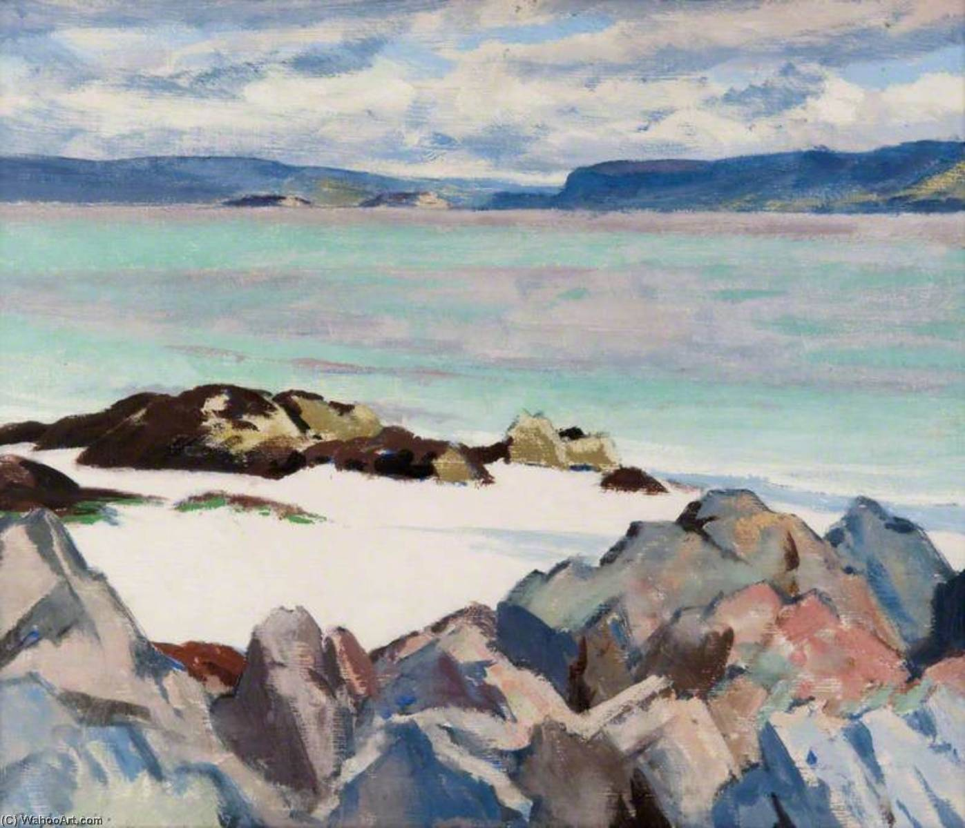Loch na Keal, Oil On Panel by Francis Campbell Boileau Cadell (1883-1937)