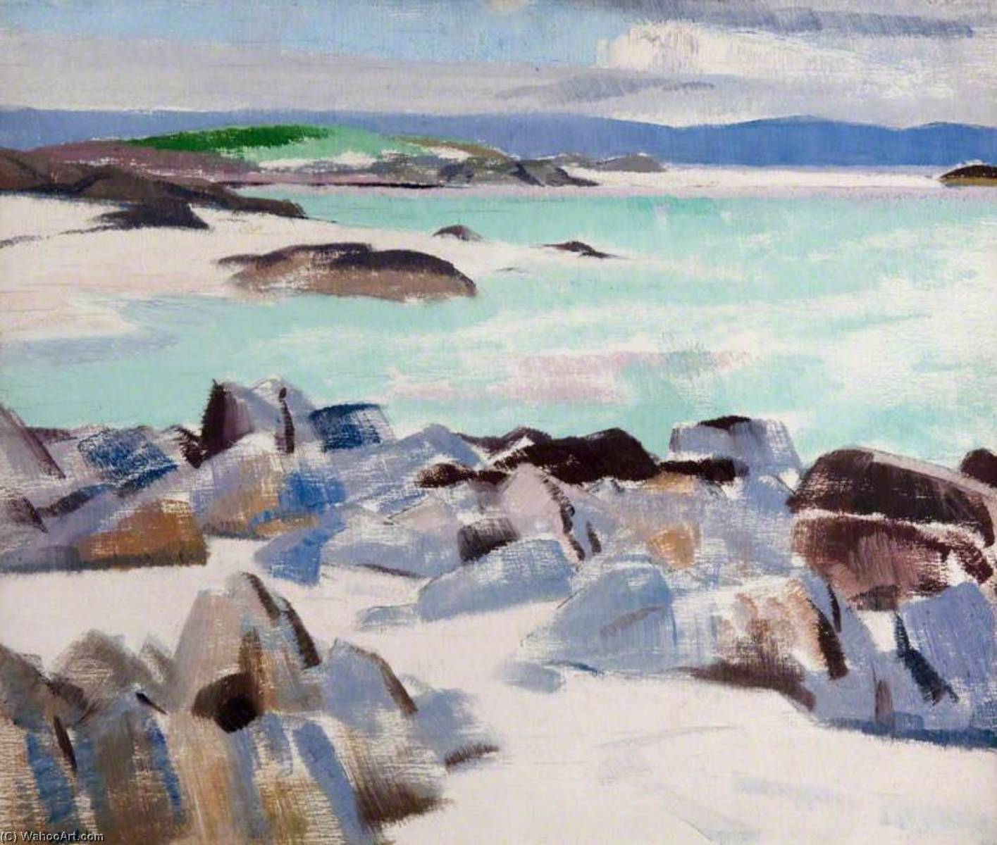 Iona, Oil On Canvas by Francis Campbell Boileau Cadell (1883-1937)