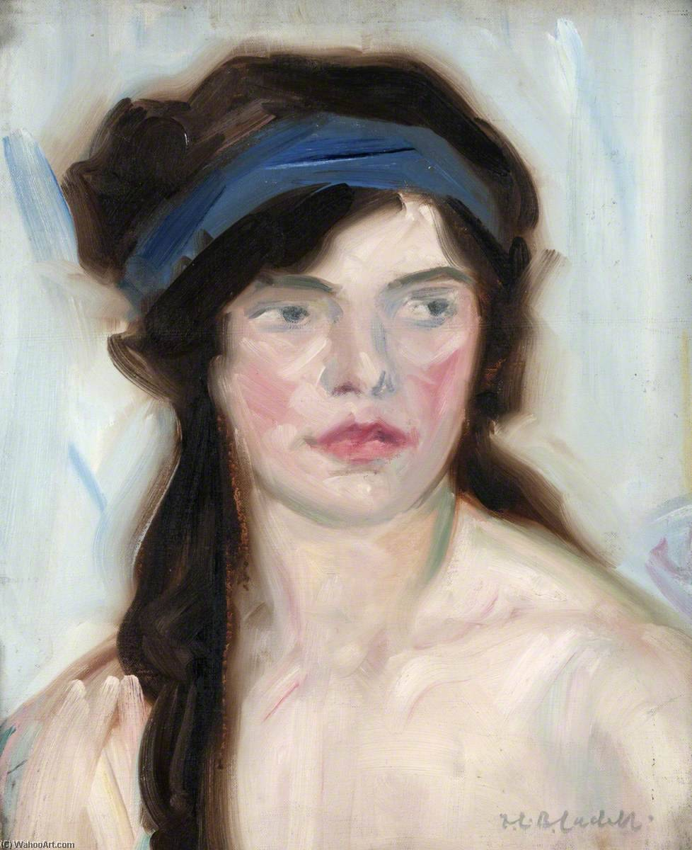 Portrait of a Girl, Oil On Canvas by Francis Campbell Boileau Cadell (1883-1937)