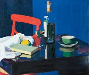 Francis Campbell Boileau Cadell - Still Life and Rosechatel