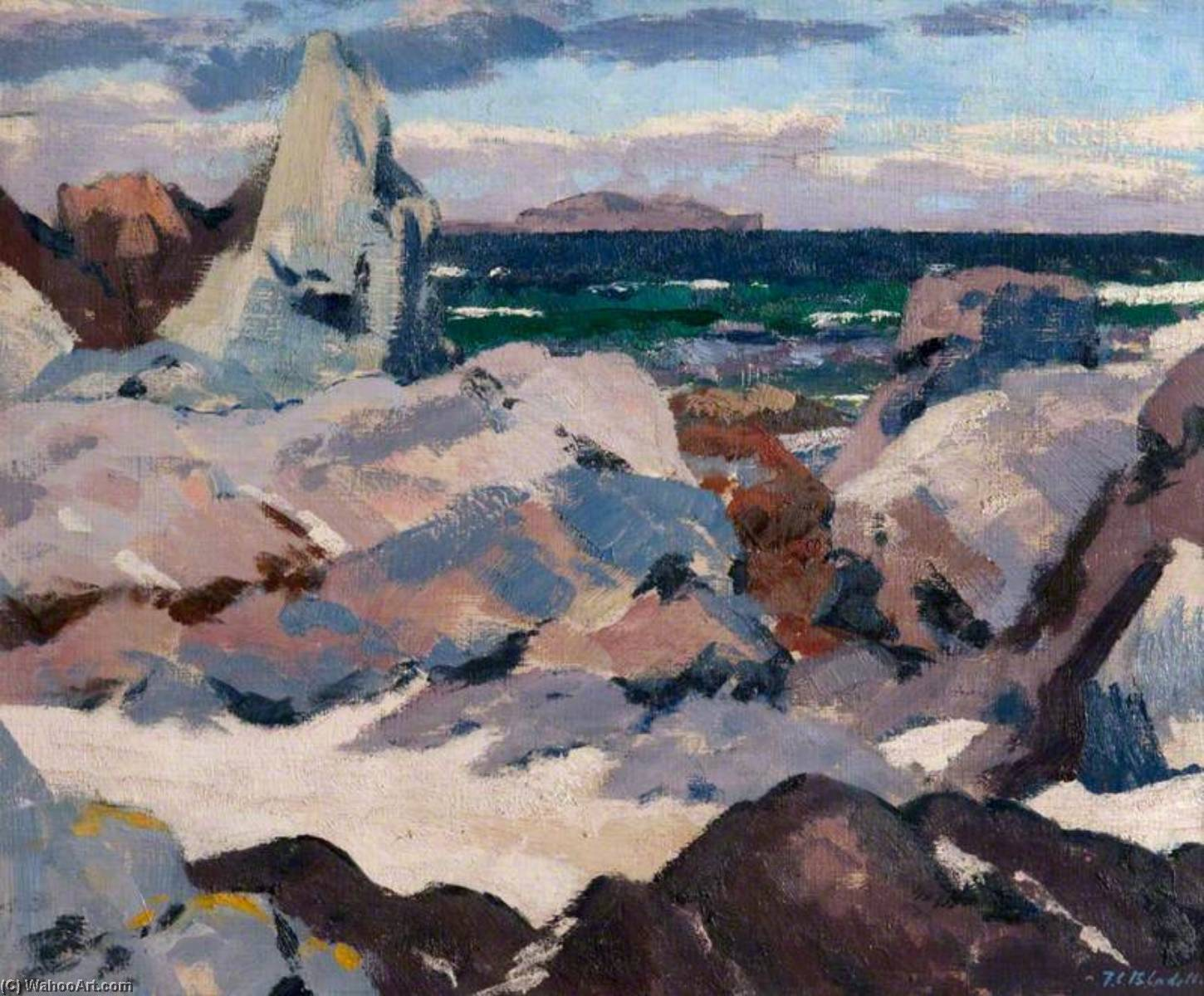 Order Art Reproduction : Lunga from Iona, 1928 by Francis Campbell Boileau Cadell (1883-1937) | WahooArt.com