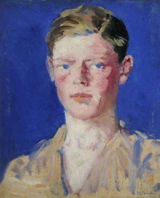 Portrait of a Young Man, Oil On Canvas by Francis Campbell Boileau Cadell (1883-1937)