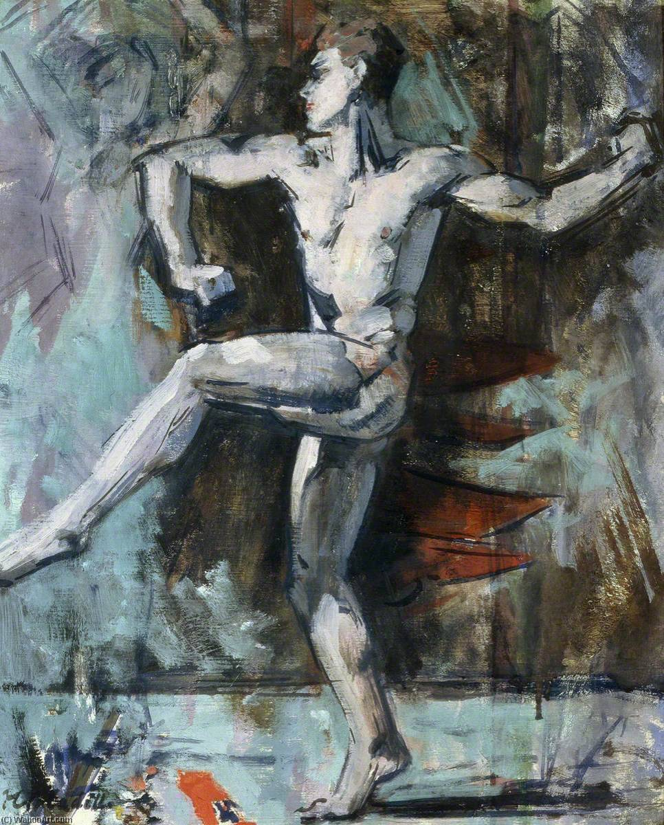 Dancer, Oil by Francis Campbell Boileau Cadell (1883-1937)