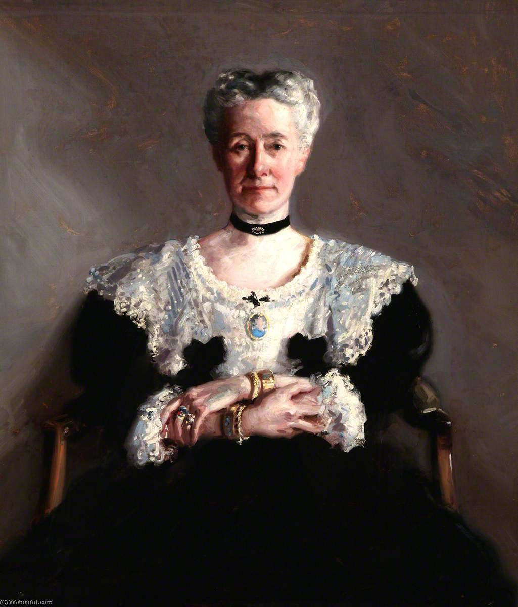 Miss Grace Chalmers Wood by Francis Campbell Boileau Cadell (1883-1937) | Oil Painting | WahooArt.com
