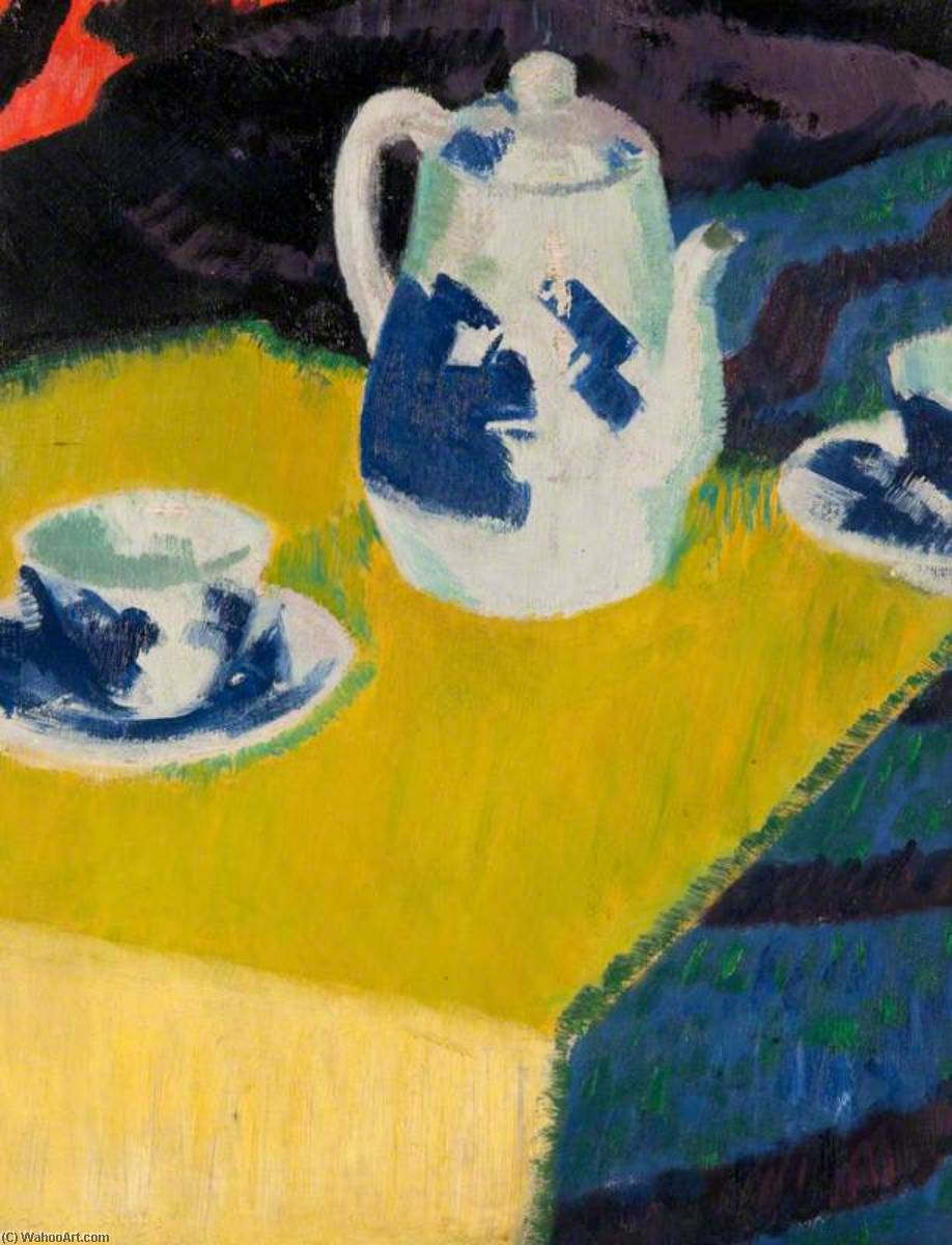 Blue and White China, Oil On Canvas by Francis Campbell Boileau Cadell (1883-1937)