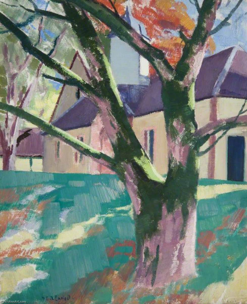 The Steading, Strachur, Oil On Canvas by Francis Campbell Boileau Cadell (1883-1937)
