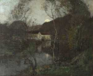 Robert Macaulay Stevenson - River by Moonlight