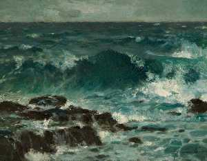 Samuel John Lamorna Birch - The Wave