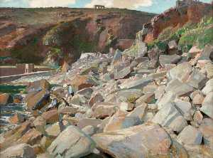Samuel John Lamorna Birch - The Rocks at Lamorna