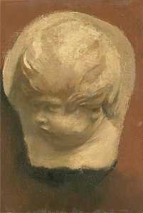 Victor Pasmore - Study of a Cast of a Child's Head