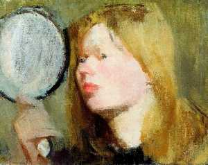 Victor Pasmore - Girl with a Mirror