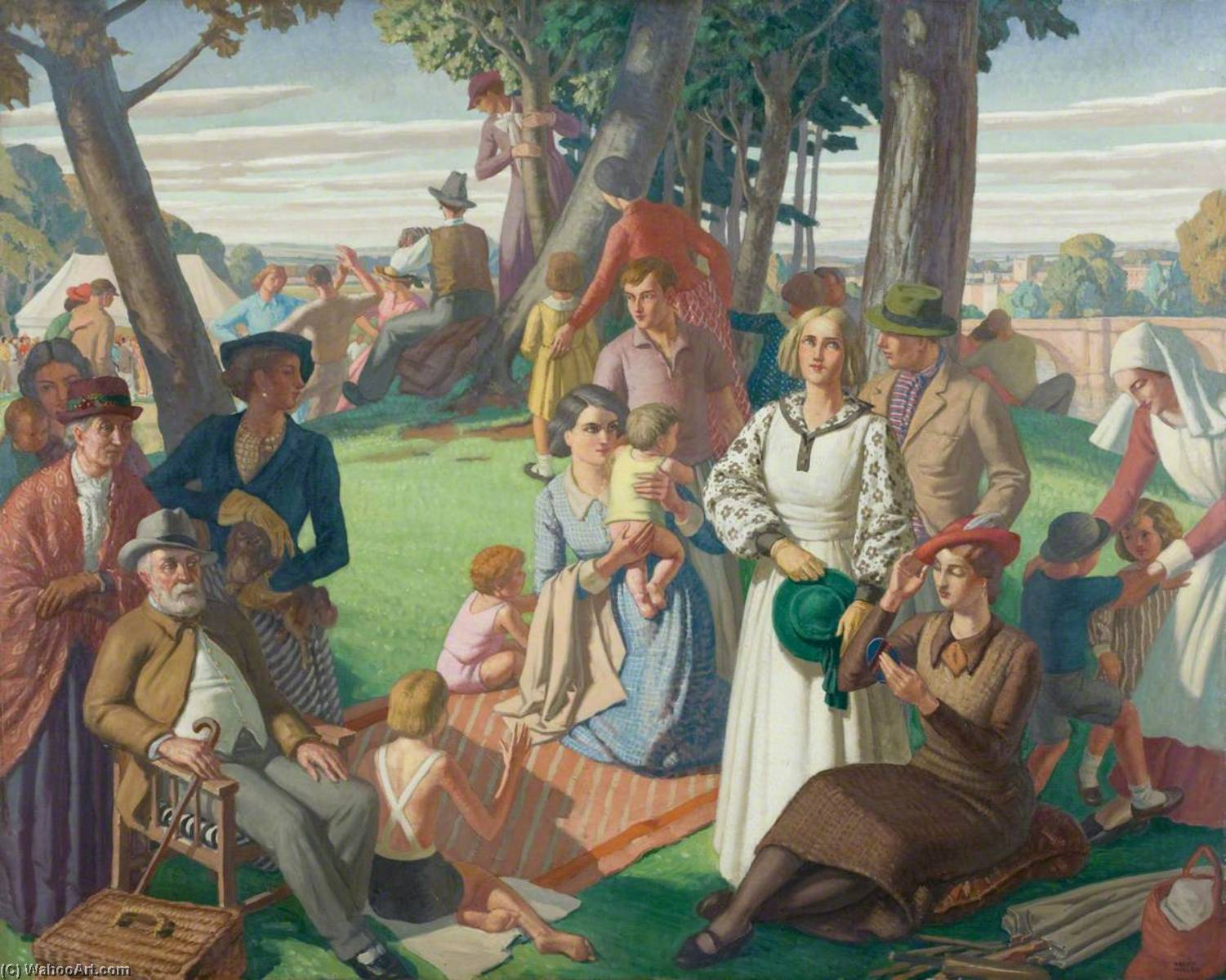 Holiday, Oil On Canvas by Harry Morley (1881-1943)