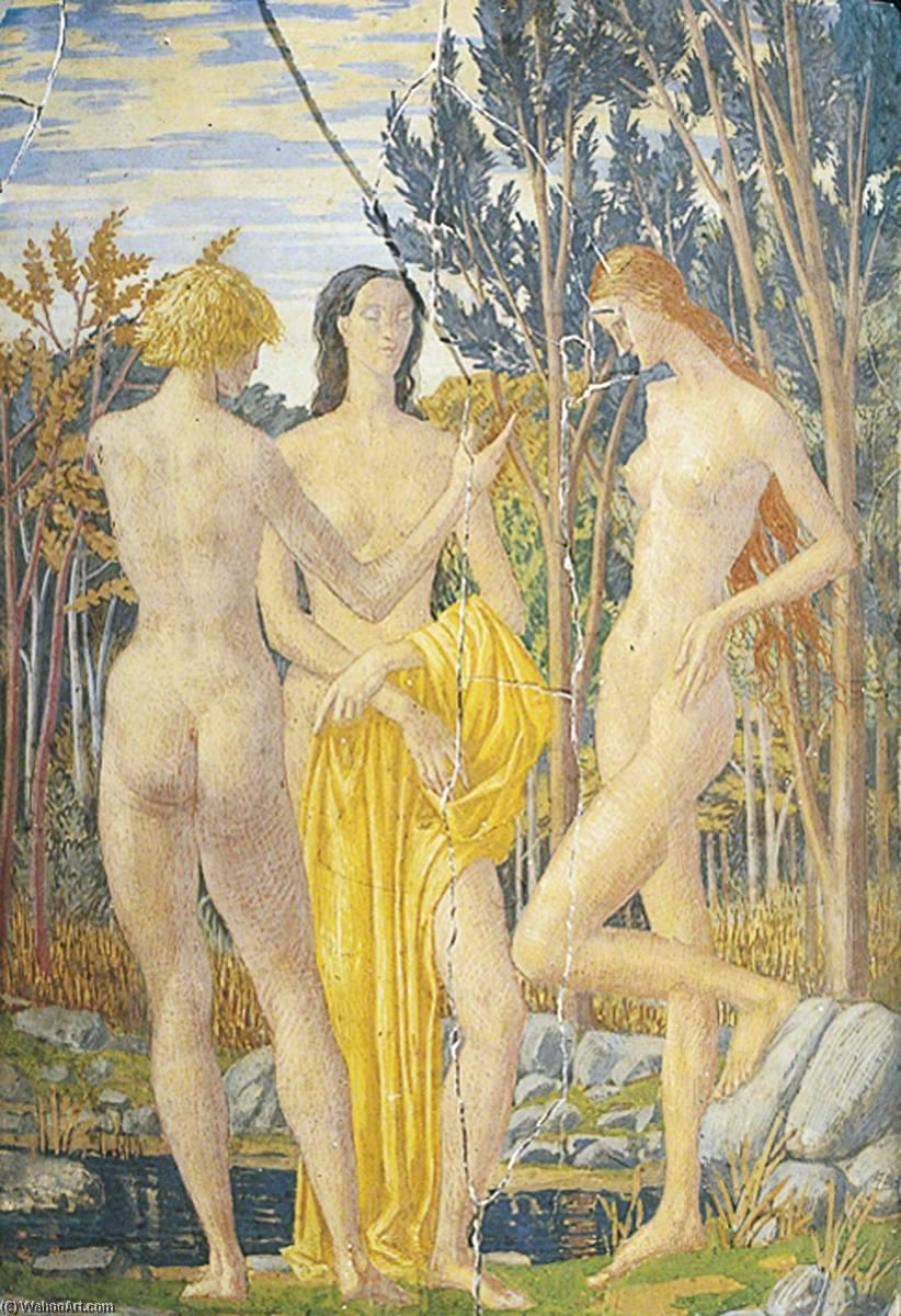 The Dryads, Tempera by Harry Morley (1881-1943)