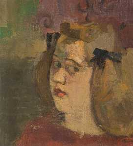 Victor Pasmore - Girl with Bows in her Hair