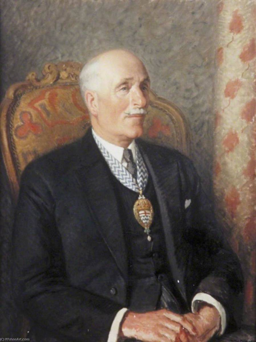 Charles George Ammon (1873–1960), 1st Baron Ammon of Camberwell, MP, Oil On Canvas by Harry Morley (1881-1943)