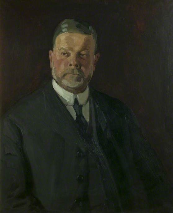 Arthur Richard Johnson (1854–1918), Co Founder of Hawley and Johnson, Oil On Canvas by Harry Morley (1881-1943)