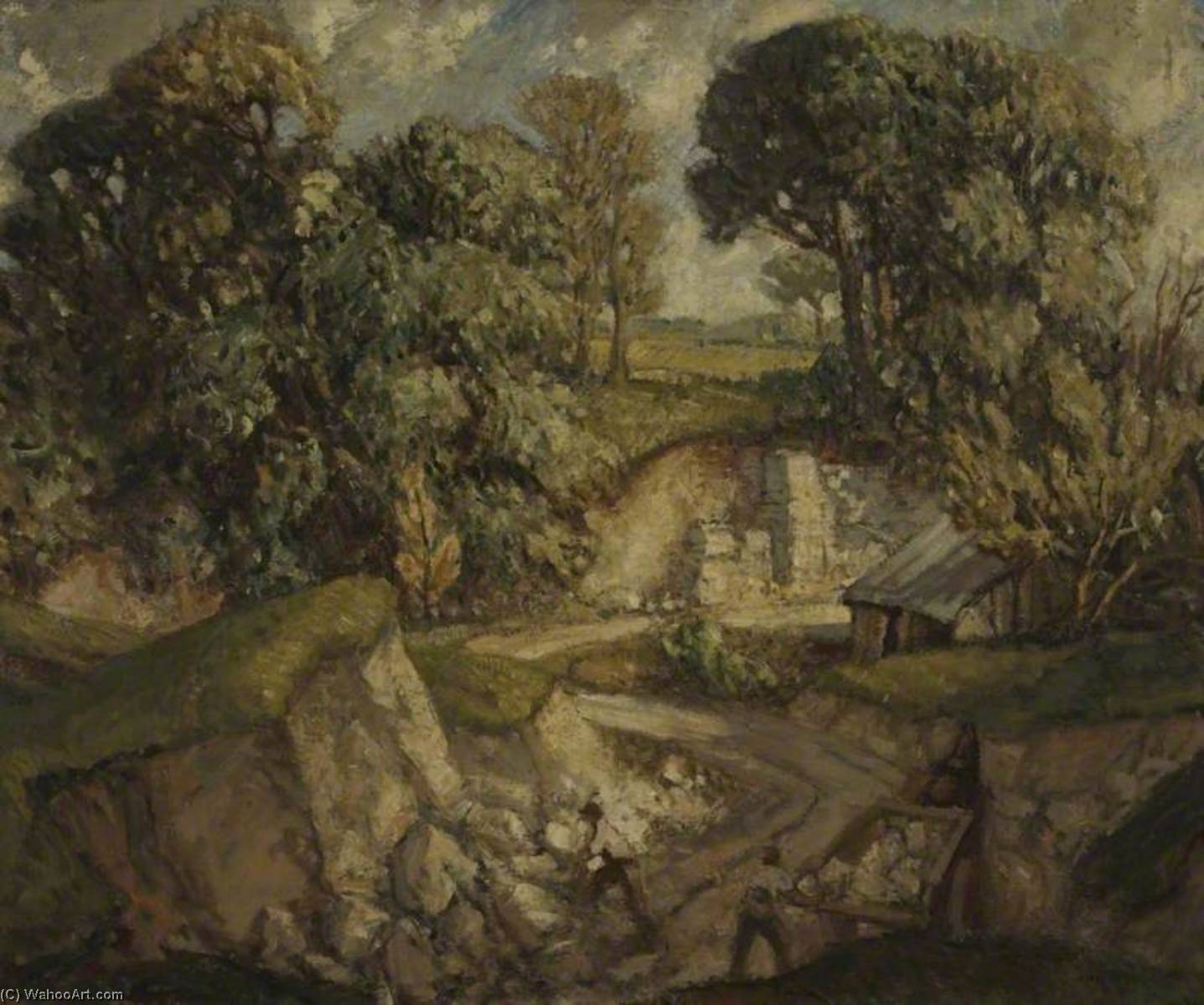Dorset Chalk Quarry by Harry Morley (1881-1943) | Painting Copy | WahooArt.com