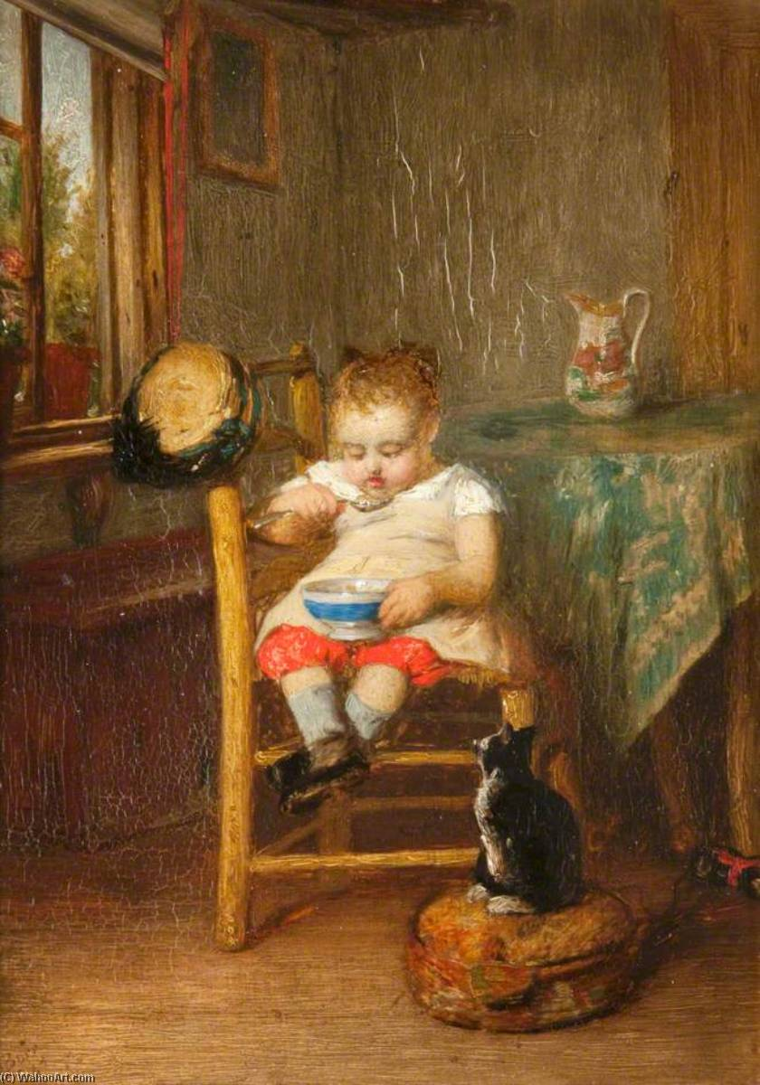 Breakfast, 1867 by John Burr | Painting Copy | WahooArt.com