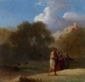 Cornelis Van Poelenburgh - Christ on the Road to Emmaus
