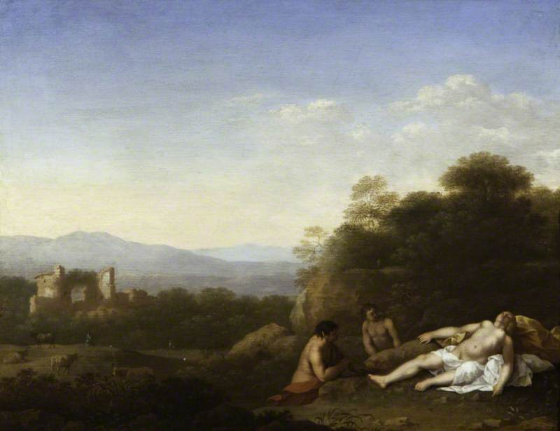 Landscape with a Satyr and Antiope ( ), Oil On Canvas by Cornelis Van Poelenburgh (1595-1667, Netherlands)