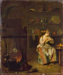 Nicolas Lancret - A Girl in a Kitchen